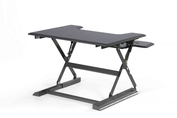 Ergonomically Adjustable Standing / Sitting Computer Stand Desk UP36 Black