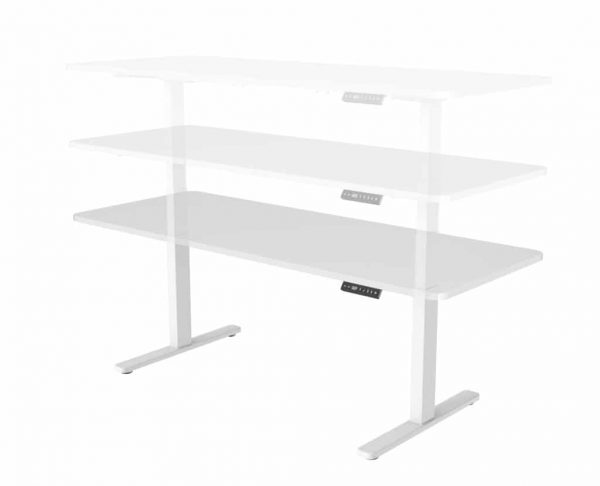 Ergonomic Stand-15 Adjustable Electric Standing Table White